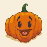 Smiling Retro Pumpkin Royalty Free Stock Photography