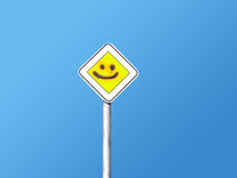 Smiling Road Sign Stock Photo
