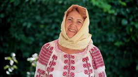 Romanian Senior Woman stock footage