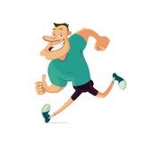 Smiling running man Royalty Free Stock Photos