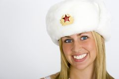 Smiling Russian Beauty Stock Photography
