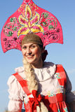 Smiling russian beauty Royalty Free Stock Image