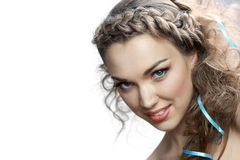Smiling russian woman Royalty Free Stock Images