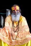 Smiling sadhu, Nepal Royalty Free Stock Photography