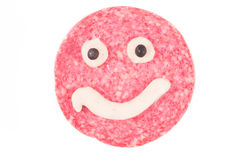 Smiling salami Stock Photography