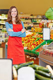Smiling saleswoman standing Stock Image