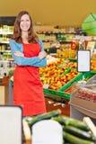 Smiling saleswoman standing Stock Image