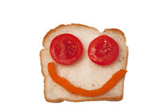 Smiling sandwich Stock Photos