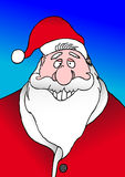 Smiling Santa stock image