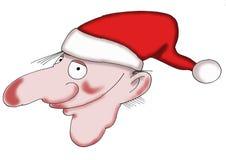 Smiling Santa. A Santa Claus, brownie or a young puck, smiling Royalty Free Stock Image