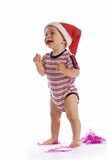 Smiling santa baby Royalty Free Stock Photo