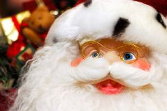 Smiling Santa with Christmas Gifts Royalty Free Stock Photos