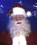 Smiling santa claus stock photos
