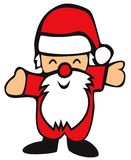 Smiling Santa Claus with arms out on white background - cartoon. Illustration royalty free illustration