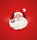 Smiling Santa Claus Christmas character face Stock Photo