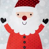 Smiling Jolly Happy Santa Claus. Illustration of smiling jolly Santa Claus wearing a red jacket with buttons royalty free illustration