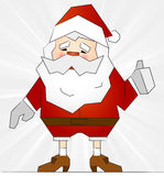 Smiling Santa Claus with thumbs up Stock Photo