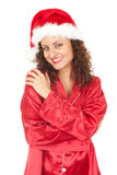 Smiling Santa girl Royalty Free Stock Photo