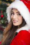 Smiling Santa girl Royalty Free Stock Photography