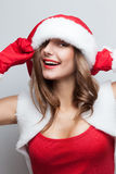 Smiling Santa girl Royalty Free Stock Image