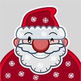 Smiling Santa head flat design Stock Photography