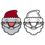 Smiling Santa head Royalty Free Stock Image