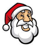 Smiling santa head Royalty Free Stock Photo