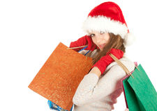 Smiling Santa young woman Royalty Free Stock Photo