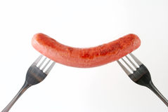 Smiling sausage Stock Photo