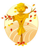 Smiling scarecrow Royalty Free Stock Photography