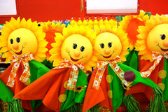 Smiling scarecrow Stock Images