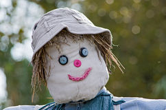 Smiling scarecrow Royalty Free Stock Photos
