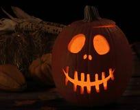Smiling Scary Jack-o-Lantern Stock Image