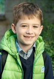 Smiling school boy Stock Photos