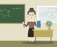 Smiling school teacher Stock Images