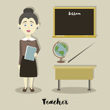 Smiling school teacher Royalty Free Stock Images