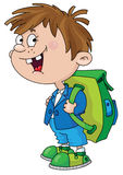 Smiling schoolboy. Illustration of a smiling schoolboy Royalty Free Stock Photo