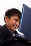 Smiling schoolboy Stock Photos