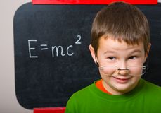 Smiling schoolboy Royalty Free Stock Image