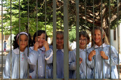 Smiling Schoolchildren Royalty Free Stock Photo
