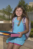 Smiling schoolgirl Royalty Free Stock Photography