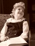 Smiling schoolgirl stock photos