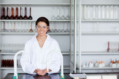 Smiling scientist posing Royalty Free Stock Image
