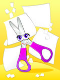 Smiling scissors Royalty Free Stock Photo