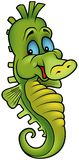 Smiling Seahorse. Colored cartoon illustration royalty free illustration