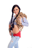 Smiling seawoman Royalty Free Stock Image