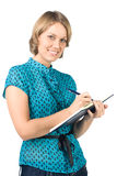 Smiling secretary Stock Photography