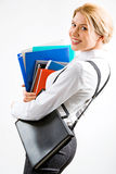 Smiling secretary Stock Photography