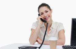 Smiling secretary answering the phone Stock Images