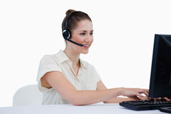Smiling secretary making an appointment Stock Photography